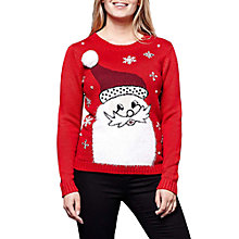 Buy Yumi Santa Claus Christmas Jumper, Red Online at johnlewis.com