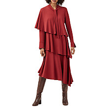 Buy Finery Clarendon Layered Jersey Dress, Brick Red Online at johnlewis.com