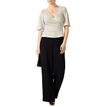 Buy Pure Collection Sparkle Wrap Top, Pearl Sparkle Online at johnlewis.com