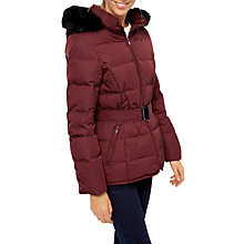 Buy Jaeger Short Belted Puffer Coat, Red Online at johnlewis.com