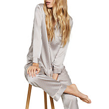 Buy Hygge by Mint Velvet Satin Printed Long Pyjama Set, Multi Online at johnlewis.com