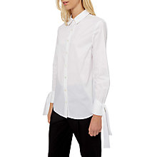 Buy Jaeger Tie Cuff Shirt, White Online at johnlewis.com