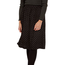 Buy Fat Face Copper & Black Saffron Polka Dot Skirt, True Black Online at johnlewis.com