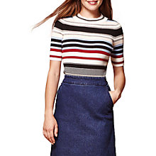 Buy Yumi Ribbed Striped Jumper, Multi Online at johnlewis.com
