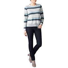 Buy Pure Collection Fair Isle Cashmere Jumper, Grey Online at johnlewis.com