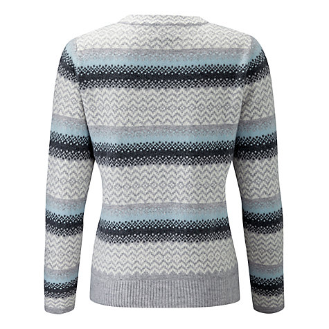 Buy Pure Collection Fair Isle Cashmere Jumper, Grey | John Lewis