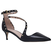 Buy Carvela Aspire Studded Court Shoes, Black Leather Online at johnlewis.com