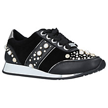 Buy Carvela Longer Embellished Trainers, Black Online at johnlewis.com