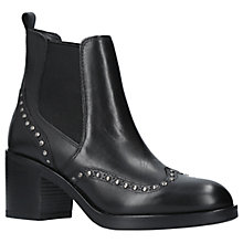 Buy Carvela Stop Studded Block Heeled Ankle Chelsea Boots, Black Leather Online at johnlewis.com