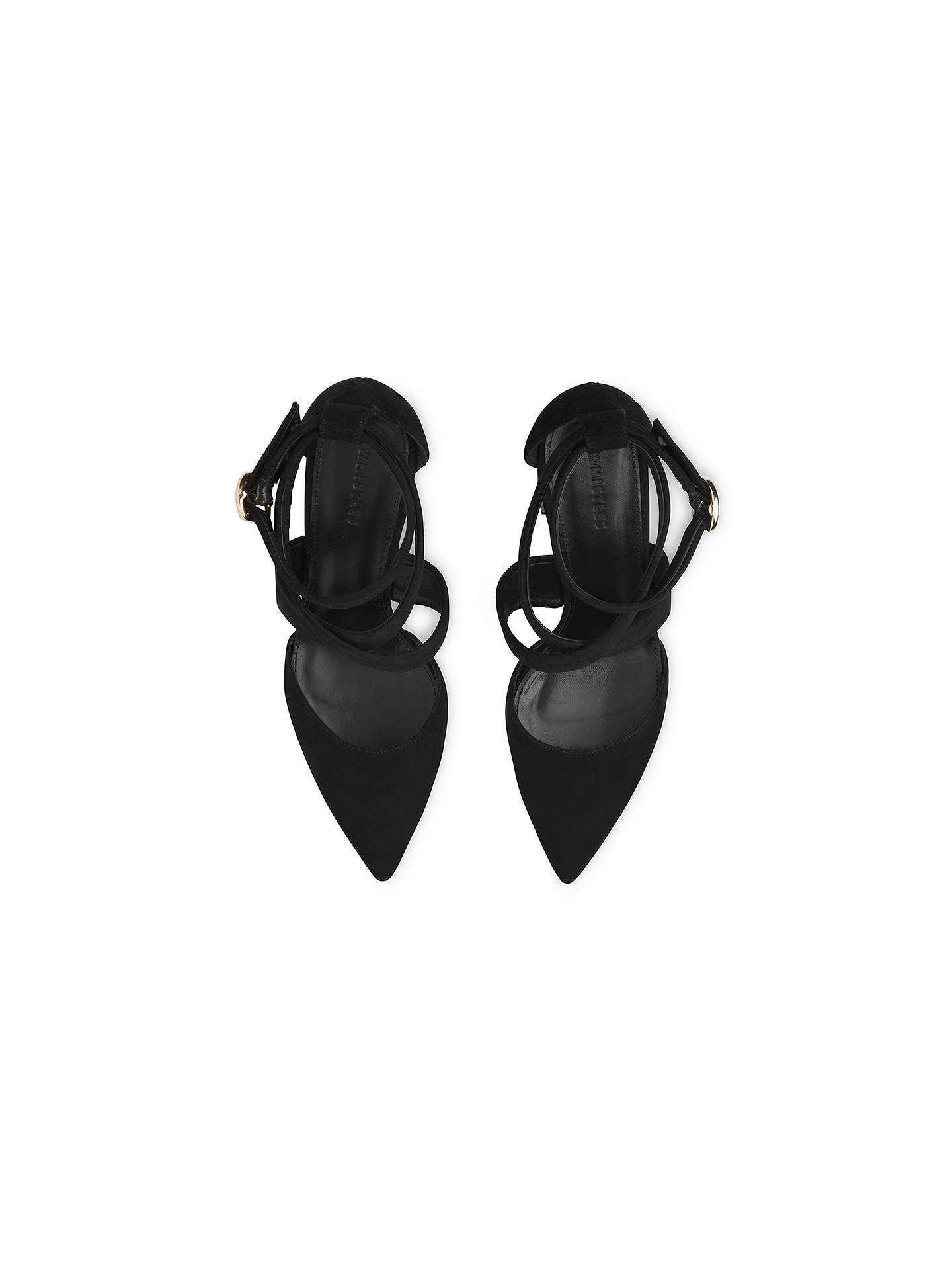 26d74703d358 Whistles Taylor Cross Strap Block Heeled Court Shoes at John Lewis ...