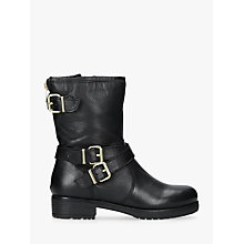 Buy Carvela Soulful Biker Calf Boots, Black Leather Online at johnlewis.com