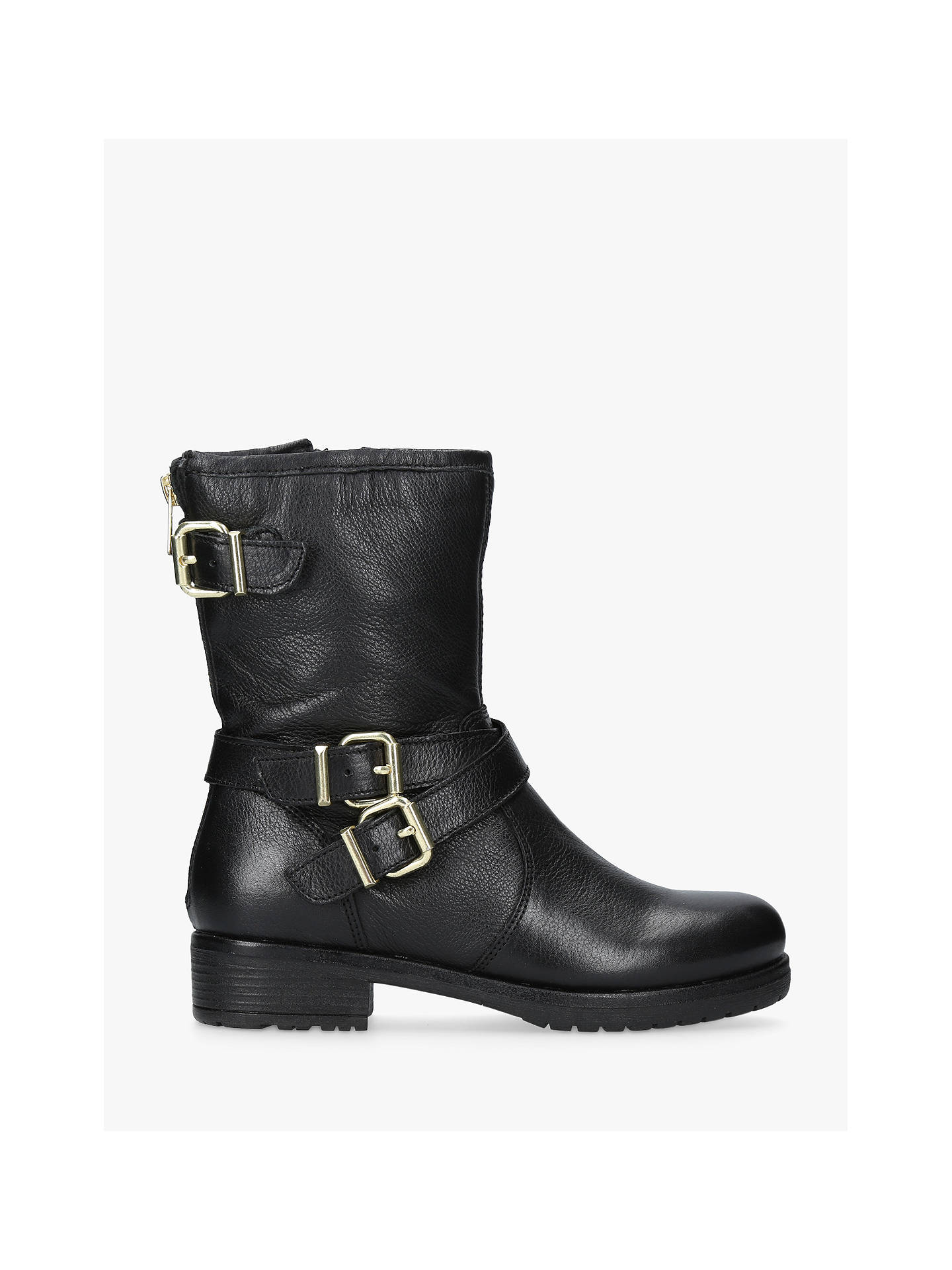 f7aa82331a Buy Carvela Soulful Biker Calf Boots, Black Leather, 3 Online at  johnlewis.com ...