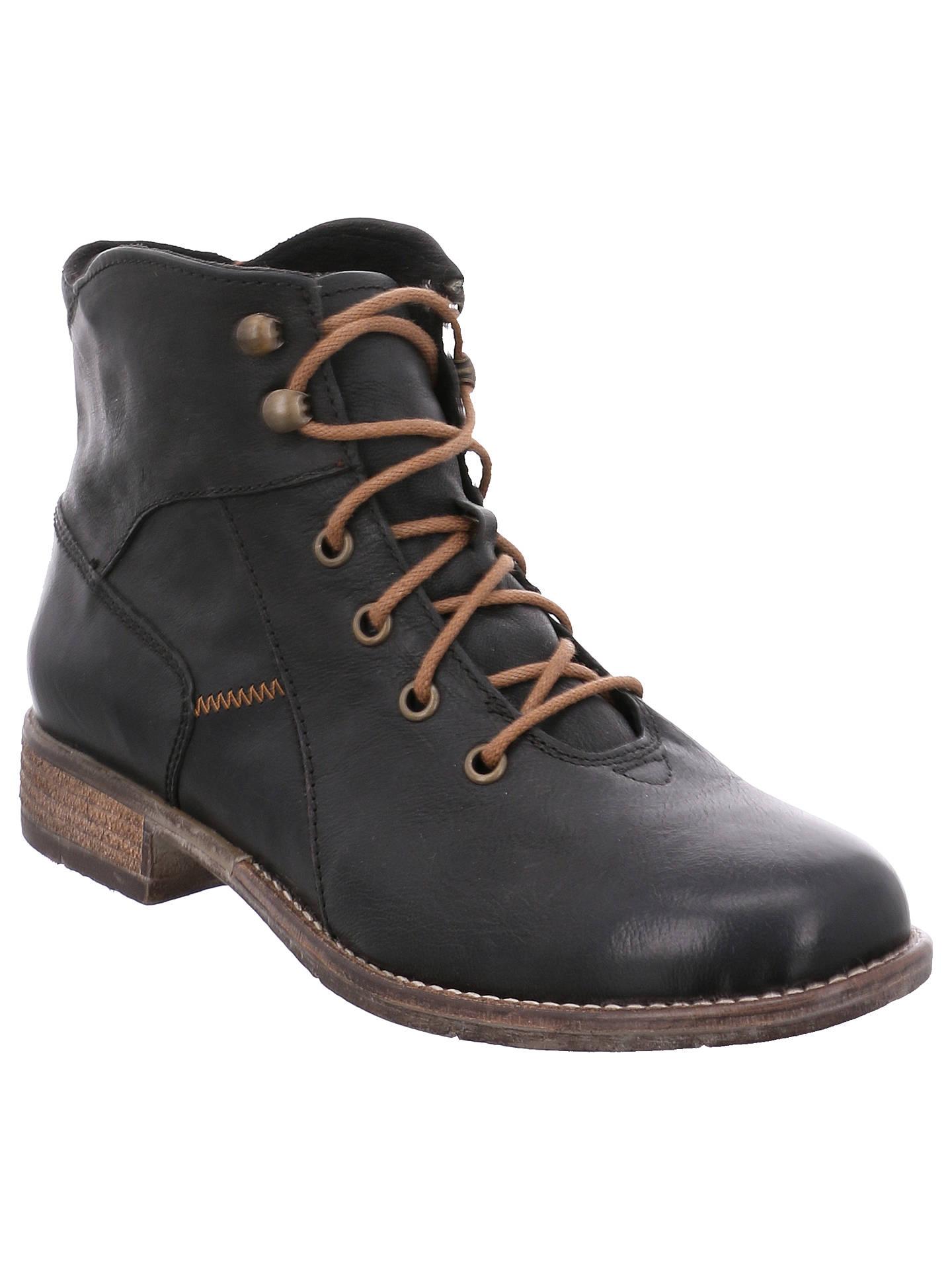 best website 981d0 11e54 Josef Seibel Sienna 11 Block Heeled Ankle Boots, Black ...