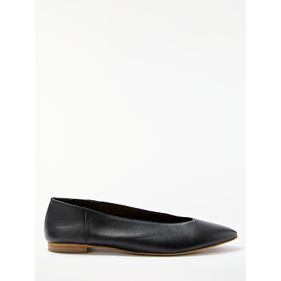 Kin by John Lewis Hakana Pointed Toe Pumps, Black Leather