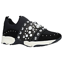 Buy Carvela Luck Embellished Slip On Trainers, Black Online at johnlewis.com