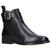 Buy KG by Kurt Geiger Rusty Ankle Boots, Black Leather Online at johnlewis.com