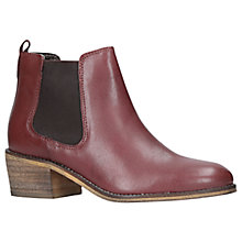 Buy Carvela Trick Ankle Chelsea Boots, Wine Online at johnlewis.com
