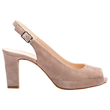 Buy Unisa Nick Classic Peep Toe Block Heeled Sandals Online at johnlewis.com