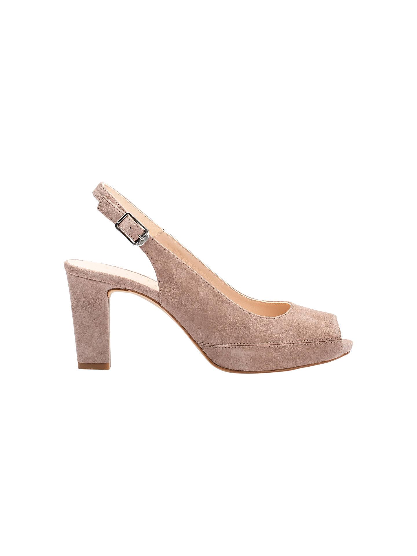 3747b092eaa2 Unisa Nick Classic Peep Toe Block Heeled Sandals at John Lewis ...