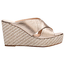 Buy Unisa Licto Wedge Heeled Sandals, Metallic Leather Online at johnlewis.com
