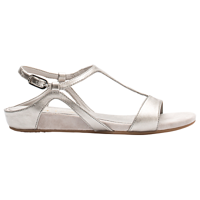 Unisa Alace Open Toe Sandals, Metallic Leather