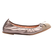 Buy Unisa Auto Flat Ballet Pumps, Metallic Gold Leather Online at johnlewis.com