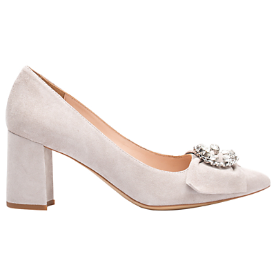 Unisa Kibut Block Heeled Court Shoes, Fog