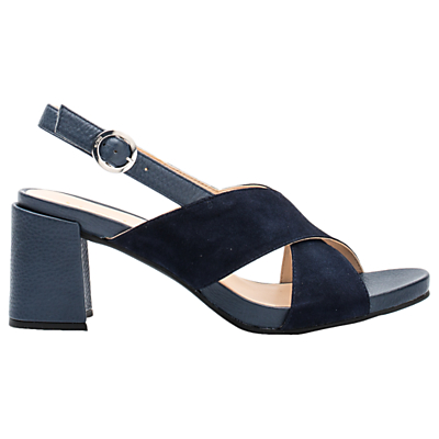 Unisa Lopan Cross Strap Sandals, Ocean Leather