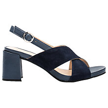 Buy Unisa Lopan Cross Strap Sandals, Ocean Leather Online at johnlewis.com