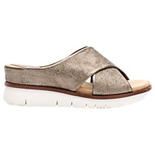 Buy Unisa Bartali Slip On Wedge Sandals, Bronze Leather Online at johnlewis.com