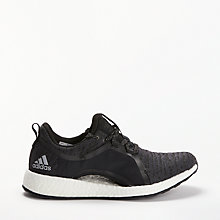 Buy Adidas Pure Boost X Women's Running Shoes, Carbon Grey Online at johnlewis.com