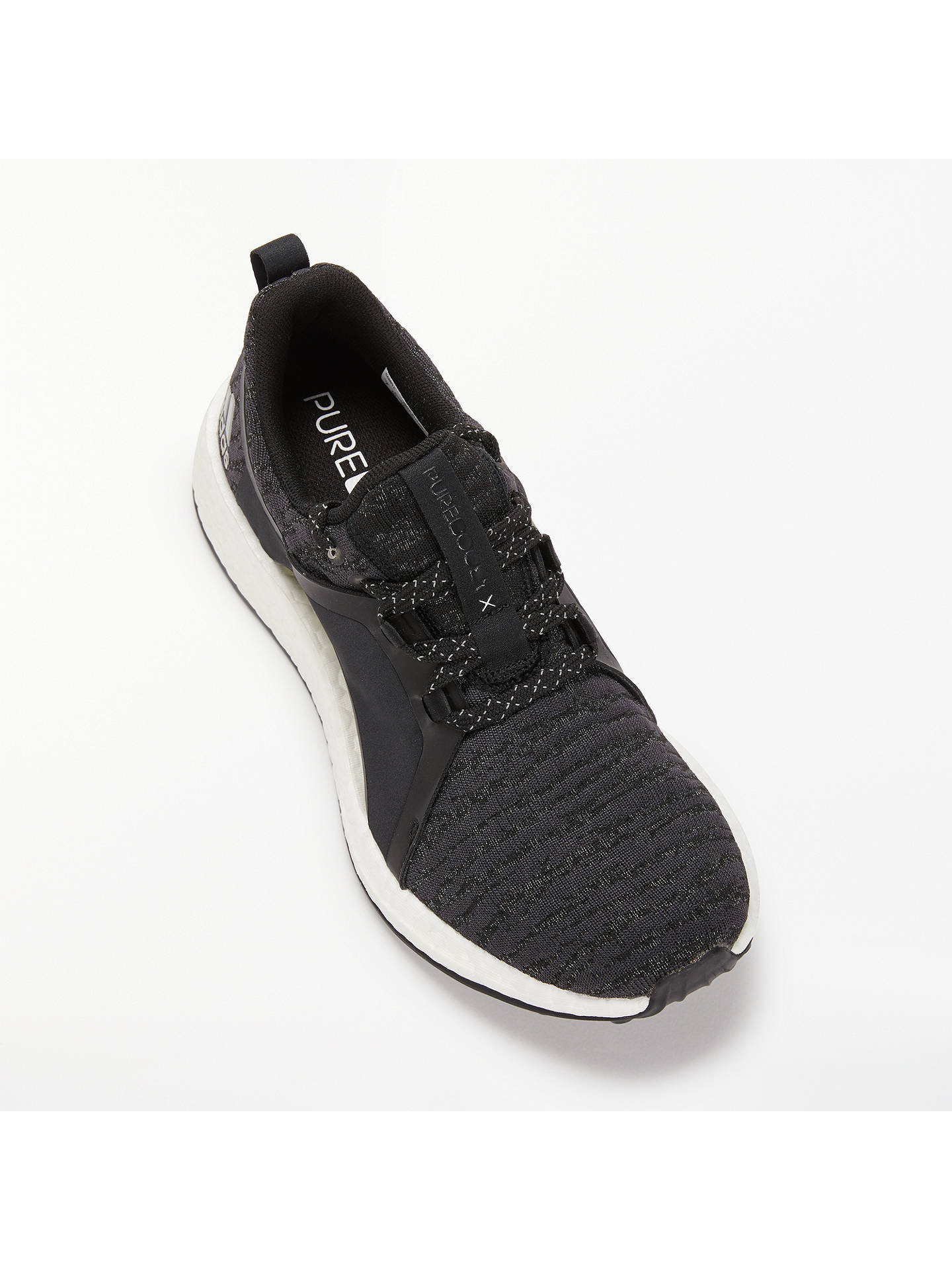 Buyadidas Pure Boost X Women's Running Shoes, Carbon Grey, 4 Online at johnlewis.com