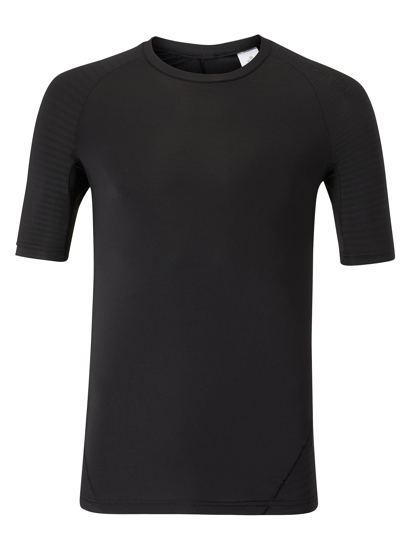 Buyadidas Alphaskin Tech Compression Top, Black, S Online at johnlewis.com
