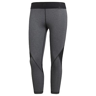 adidas Alpha Skin Sport 3/4 Length Training Tights, Dark Grey Heather