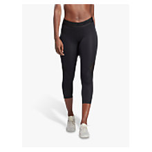 Buy adidas Alpha Skin Sport 3/4 Length Training Tights, Black Online at johnlewis.com