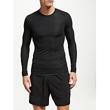 Buy adidas Alpha Skin Tech Long Sleeve Training T-Shirt, Black Online at johnlewis.com