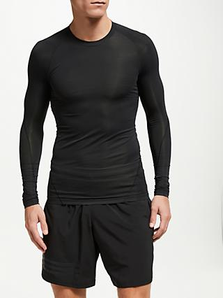 adidas Alpha Skin Tech Long Sleeve Training T-Shirt, Black