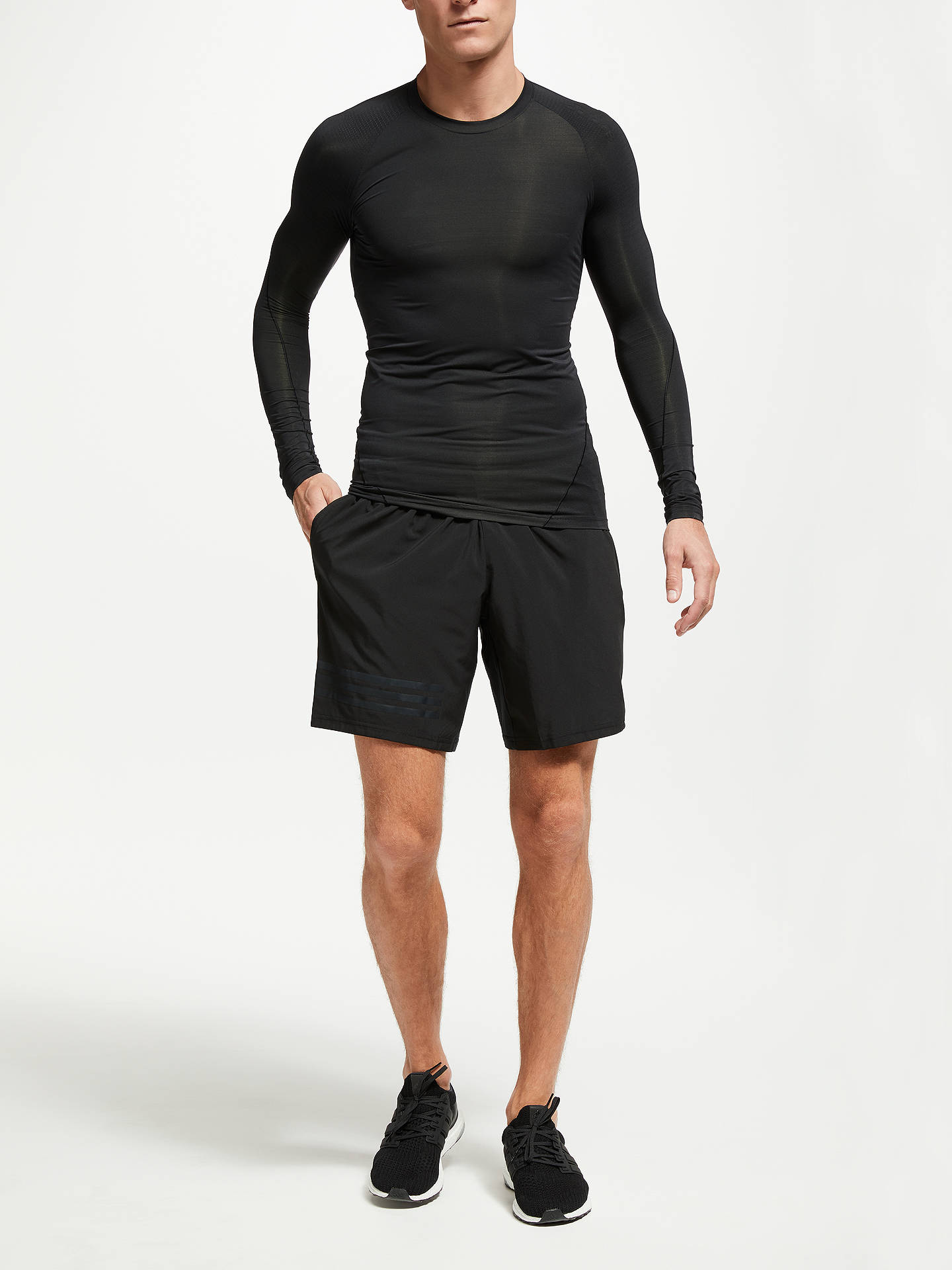 Buy adidas Alpha Skin Tech Long Sleeve Training T-Shirt, Black, S Online at johnlewis.com