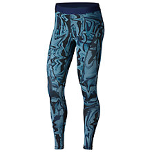 Buy Nike Pro Hypercool Marble Print Training Tights, Noise Aqua/Black Online at johnlewis.com