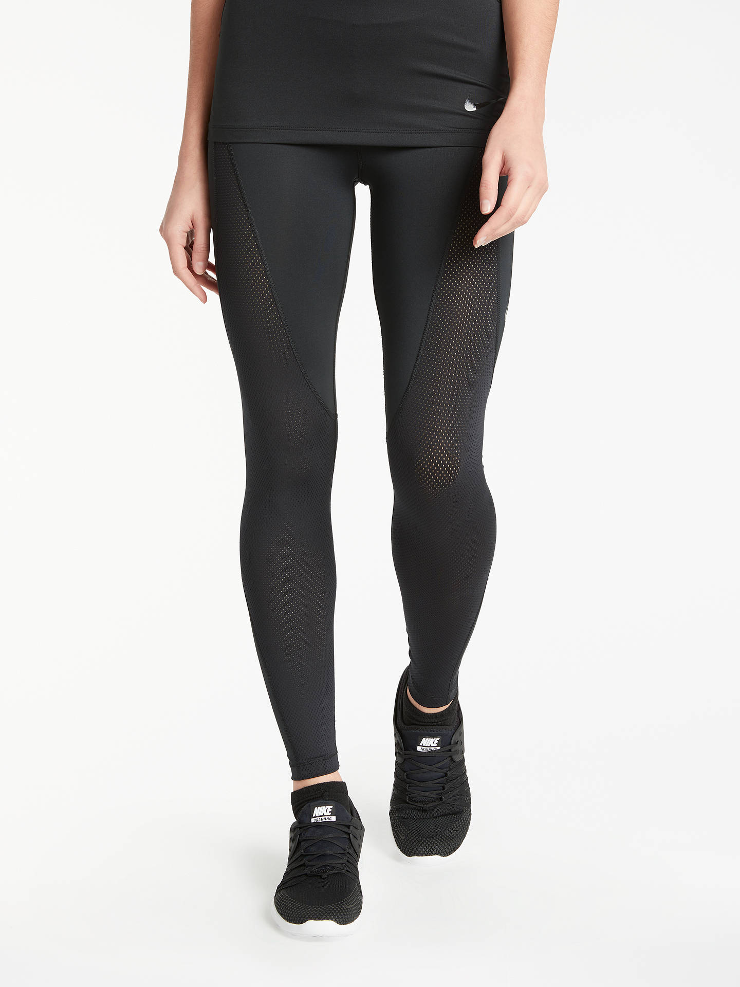 51d5254181200 Buy Nike Pro Hypercool Training Tights, Black, XS Online at johnlewis.com  ...