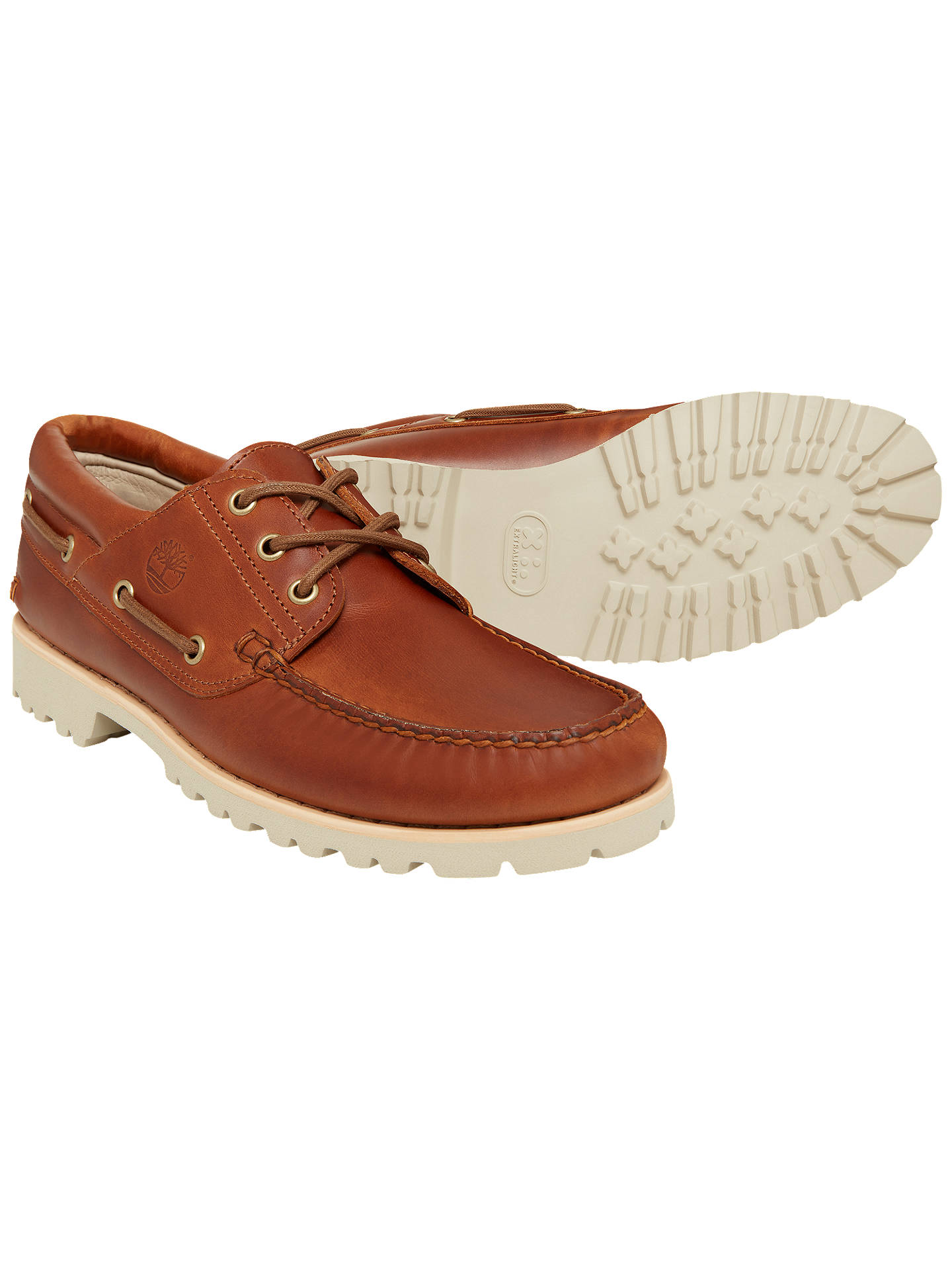 Timberland Chilmark Boat Shoes, Brown at John Lewis & Partners