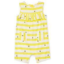 Buy John Lewis Baby Bee Frill Romper, Yellow Online at johnlewis.com