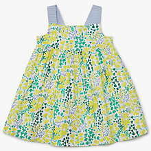 Buy John Lewis Baby Easter Garden All Over Print Dress, Green Online at johnlewis.com