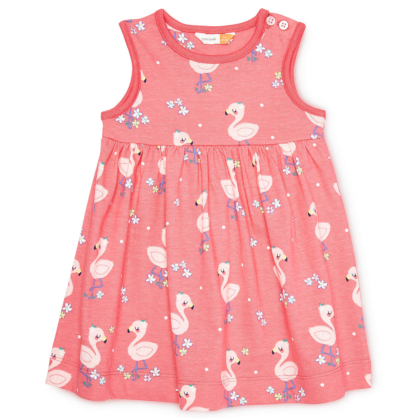 John Lewis Baby Flamingo Dress Pink At John Lewis