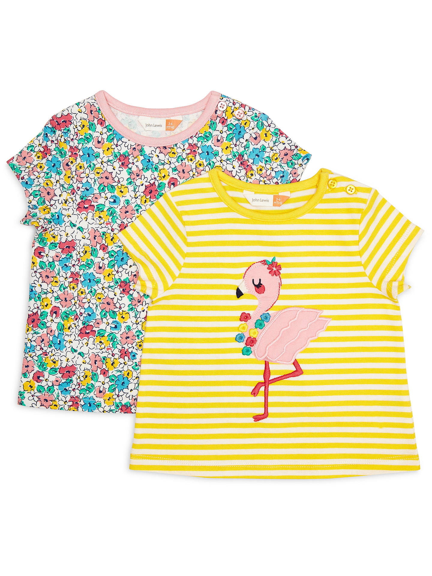Baby Girls Clothes NEXT Applique Flamingo 2 Pack T-Shirts Tee 3-6 /& 6-9 Months