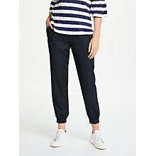 Buy Max Studio Cuff Hem Twill Trousers, Navy Online at johnlewis.com