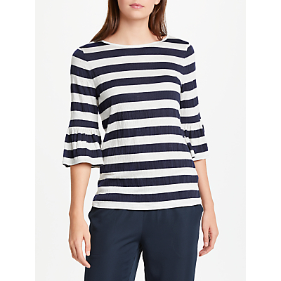 Max Studio Bell Sleeve Striped Jersey Top, Blue/Multi