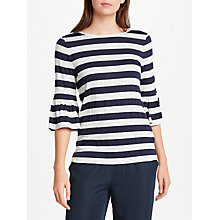 Buy Max Studio Bell Sleeve Striped Jersey Top, Blue/Multi Online at johnlewis.com