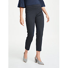 Buy Max Studio Jacquard Spot Trousers, Navy Online at johnlewis.com