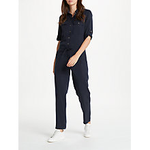 Buy Max Studio Tie Waist Jumpsuit, Navy Online at johnlewis.com